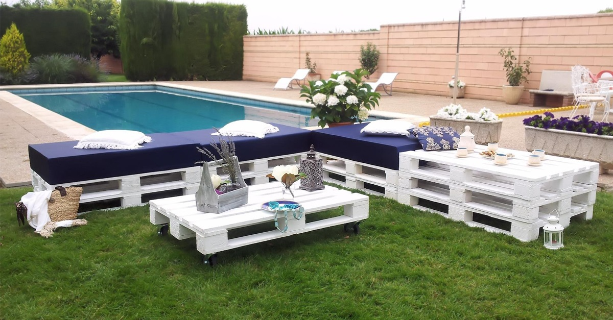 30 dise os de muebles de palets para tu jard n ideas for Sillones para patio
